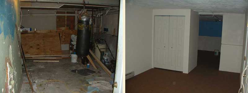 basement apartment before and after. Basement  Before After eXtreme Construction Contracting Online Quote Form